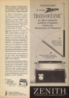 # ZENITH RADIO FANTACCI FIRENZE ITALY 1950s Advert Pubblicità Publicitè Reklame Drehscheibe Radio TV Television - Radio & TSF