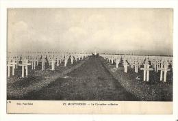 Cp, Militairia, Montdidier - Le Cimetière Militaire, écrite - Cimetières Militaires