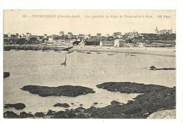 Cp, 22, Trébeurden, Vue Générale, La Plage De Trouzoul Et Le Port - Trébeurden