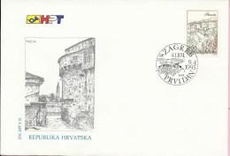 Croatian City - Pazin, Zagreb, 9.4.1993., Croatia, FDC-HPT 9/93 - Croatia