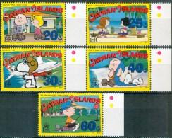 Cayman Islands 2002 Partial Set/5 (Missing #849) Peanuts Cartoon #850-4 - Cayman (Isole)