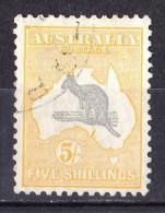 Australia 1932 Kangaroo 5/- C Of A Watermark CTO No Gum - Small Crease - Gebruikt