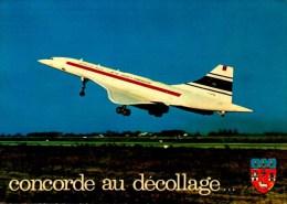 CONCORDE AU DECOLLAGE...CPM - 1946-....: Moderne