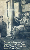 Militaria Militaire Guerre 1914 Train Gare Poilu Ne Fume Pas Ici Tu Parles Bien Fumé D'vant Tahure J'peux D'vant Ta G... - War 1914-18