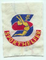 JUNGE PIONIERE, SPORTHELFER, East Germany Ex DDR, Aufnaher / Patch, Orig. VEB Produkt - Ecussons Tissu
