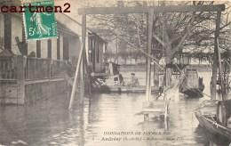 ANDRESY INONDATIONS 1910 ROBINSON DANS L'ILE ENVOI A RICHEVEUX SOIGNOLLES COUBERT - Andresy