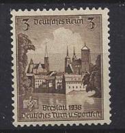 Germany  1938  Turn-und Sporfest In Breslau  (o) Mi. 665 - Germany