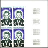 Dahomey / Benin: 'John F. Kennedy, 1973', Mi. 537 U; Yv. PA 194 ND; Sc. C191 Imperf ** - Kennedy (John F.)