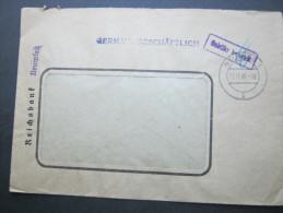 1946 , NEUWIED , Gebühr Bezahlt , Klarer Stempel Auf Brief - American/British Zone