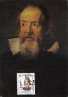 441- GALILEO GALILEI, ASTROLOGY, MAXICARD, CARTES MAXIMUM, CM, 1964 STAMP, 1984, ROMANIA - Astrology