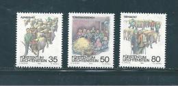 Liechtenstein Timbres De 1989  N°912  A  914   Neufs ** - Unused Stamps