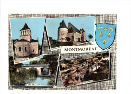 CPSM Dentelée De MONTMOREAU  (16)  -  Vues Diverses Du Village  //  TBE - France