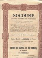 SOCOUME - Société Commerciale D'Outremer - 1926 - Afrique