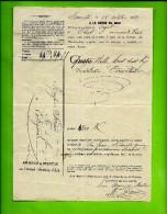 RARE LETTRE DE VOITURE ROULAGE  1869 PAR ARNOUX ET MARTIN à  MARSEILLE  CAYOL ORIEL  B.du Rh. FERRAUD COTIGNAC VAR B.E. - France