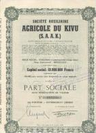 Soc. Aux. Agricole Du Kivu (S.A.A.K.) - Afrique