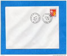 MARCOPHILIE-lettre  Cachet PARIS A LYON - RAPIDE A--Cad 1966 - Railway Post