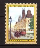 2012 autriche neuf ** n� 2839 tramway : cal�che : architecture : bureau de poste de zagreb