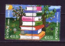 2010 chypre neuf ** n� 1194/95 europa : livre pour enfant : abeille : escargot