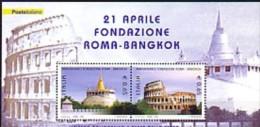 2004 italie neuf ** bloc n� 36 architecture : colis�e de rome : temple wat saket � bangkok