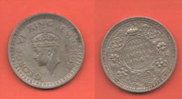 India Britannica Half Rupee 1945  King George VI - India