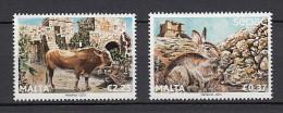 2013 malte neuf ** n� 1758/59 faune : lapin : vache