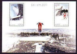 2011 norvege neuf ** bloc n� 42 sport : ski de fond : tremplin de saut � ski