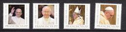 2013 vatican neuf ** n�  1623/26 religion : pape francois : �mission conjointe avec l'italie