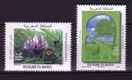 2010 maroc neuf ** n� 1545/46 agriculture : fleur de luzerne : flore : arbre