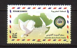 2012 maroc neuf ** n� 1634 carte : colombe