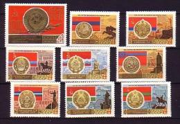 1967 russie neuf ** n� 3240/55 armoirie : drapeaux