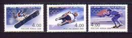 2006 russie neuf ** n� 6916/18 jeux olympiques de turin : snowboard : luge : patinage de vitesse