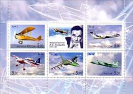 2006 RUSSIE neuf ** feuillet n� 6935/39 avion du constructeur alexander yakovlev