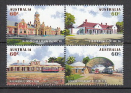 2013 australie neuf ** n�  3875/78  transport : train : gare : architecture