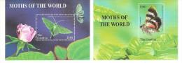 GAMBIA 2 FOGLIETTI NUOVI  FARFALLE BUTTERFLI 2 SHEETS MNH - Farfalle