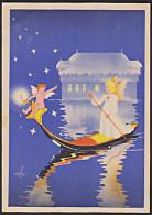 Baden Weihnachtsmarkt Am Bodensee 1947 Künstlerkarte Sign. Retter Engel Und Christkind Auf Boot Bodensee - Zona Francesa