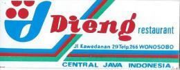 Etiquette Valise Et Malle/ Hotel/ ASIE/ Dieng/central JAVA /Indonésie/ Années 1980   EVM59 - Etiquettes D'hotels