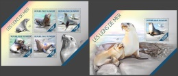 nig14214ab Niger 2014 Sea Lion 2 s/s