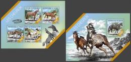 nig14216ab Niger 2014 Horse 2 s/s