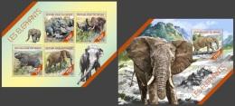 nig14218ab Niger 2014 Elephant 2 s/s