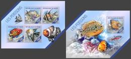 nig14221ab Niger 2014 Fish 2 s/s