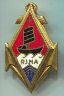 ARMY - Military, Navy, Marine, France, Vintage Pin, Big Badge, Enamel, DRAGO Paris - Militaria