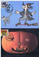 K235 Carte Maximum 3324-3325 - Halloween - Cartes-maximum (CM)