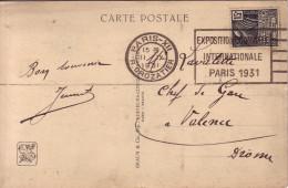 EXPOSITION COLONIALE INTERNATIONALE 1931 - PARIS XII LE 11-9-1931 SUR FEMME FACCHI 15c. - Poststempel (Briefe)