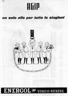 # AGIP ENERGOL OIL 1950s Car Italy Advert Pub Pubblicità Reklame Huile Olio Aceite Ol - Transporto
