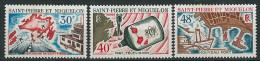 SPM  ST PIERRE ET MIQUELON 1967   AMENAGEMENTS  YT 376 - 378  MI 418-20  374-76    NEUFS * - Neufs