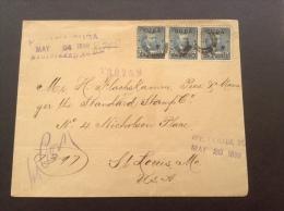"Cuba 1899 Cover USA 5c Overpr. X3 With RARE ""HAVANA  REGISTERED"" > St Louis  (lettre Brief) - Cuba"