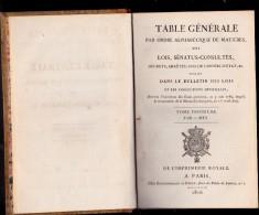 LIVRE DES LOIS,SENATUS-CONSULTES -DES ETATS GENERAUX-1789 A LA MONARCHIE DE 1814 - Livres, BD, Revues