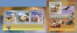 gu14213ab Guinea 2014 Dogs 2 s/s