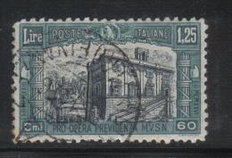 3RG419 - REGNO 1926 ,  1.25+60 Cent N. 208 MILIZIA 1a - Usati