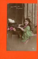 Machine à écrire -  Publicité - Fantaisie - Enfant - Cartes Postales